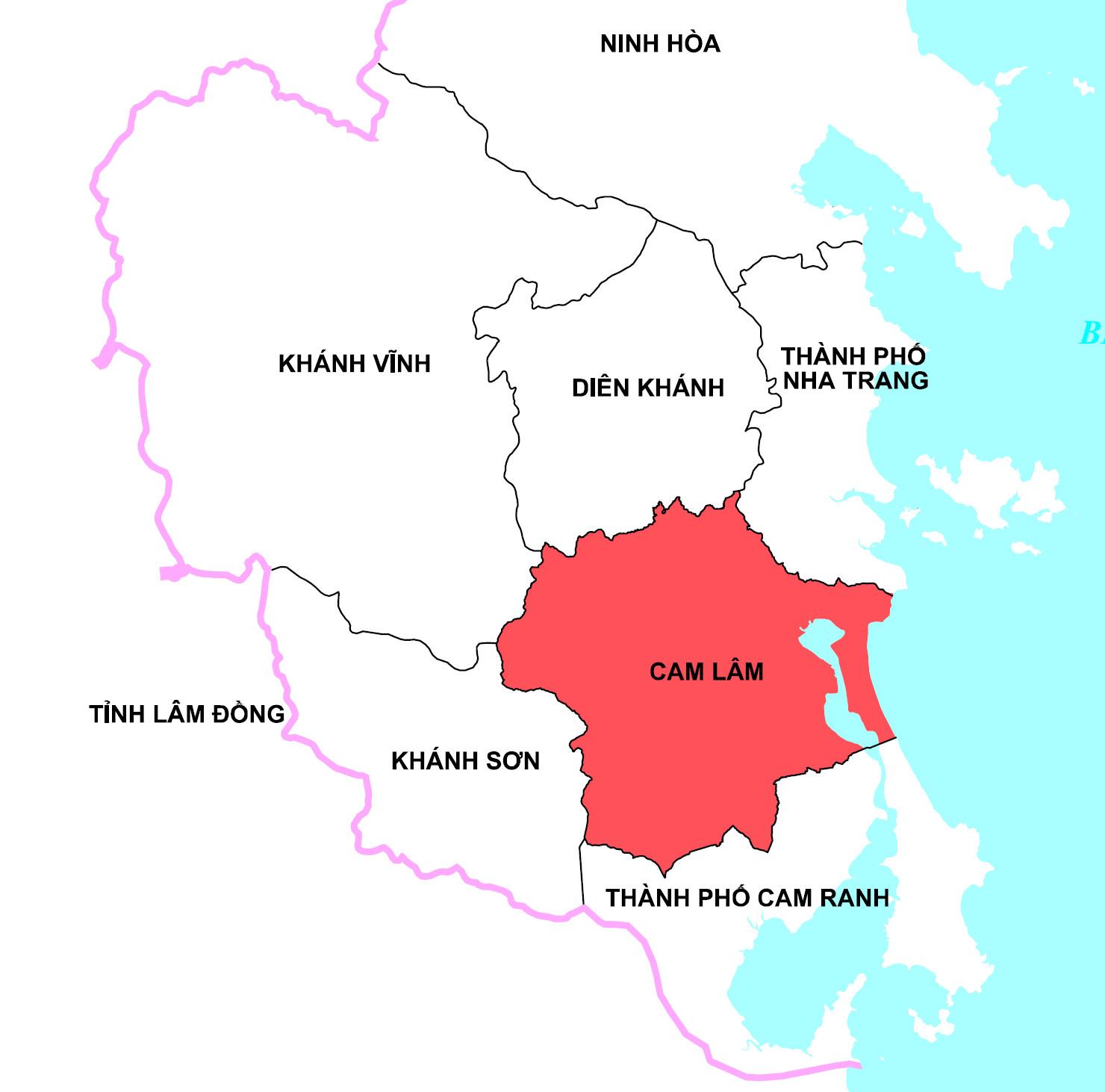Vị trí huyện Cam Lâm tỉnh Khánh Hòa