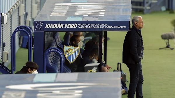 Málaga, así luce la figura de Joaquín Peiró en el banquillo