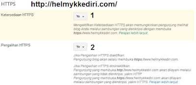 mengaktifikan HTTPS blogger domain TLD1