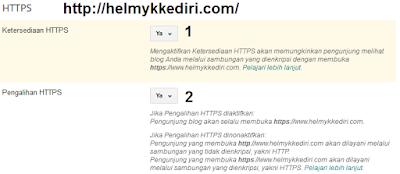 mengaktifikan HTTPS blogger domain TLD1