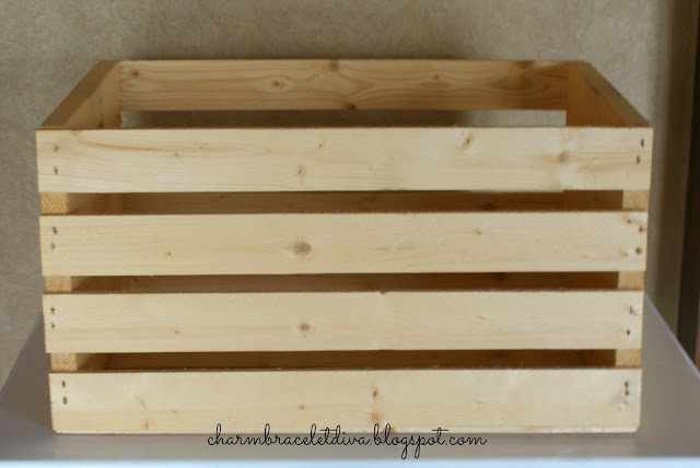 plain unadorned wooden crate