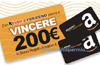 Logo Concorso ''Vinci i buoni Amazon con Kinder e Ferrero'': 100 premi da 200€