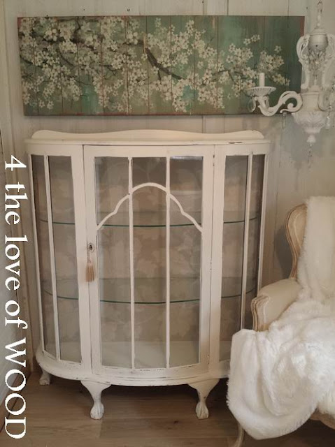 of these pieces it would be turned into a glamorous storage cabinet that  could be used for ladies shoes. - 4 The Love Of Wood: ANTIQUE SHOE CABINET - Curved Glass