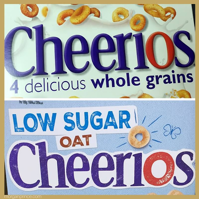 Two boxes of Cheerios side by side.