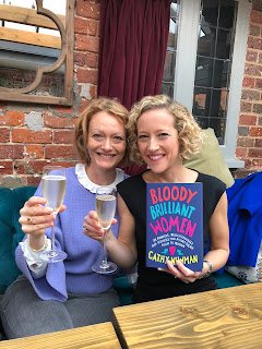 Emma Clark Lam and broadcaster Cathy Newman