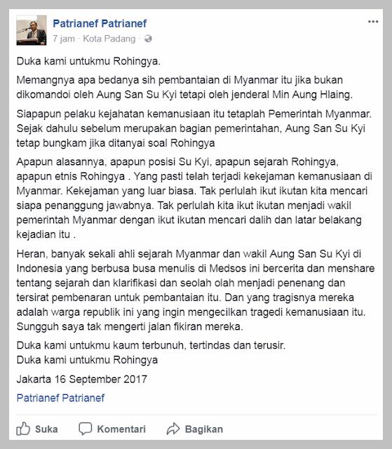 """Dokter Ini Heran Banyak yang Tiba-tiba Jadi """"Jubir"""" Pembela Myanmar Atas Pembantaian Muslim Rohingya"""