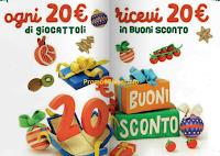 Logo Da Conad ogni 20 euro di giocattoli ricevi 20 euro in buoni sconto