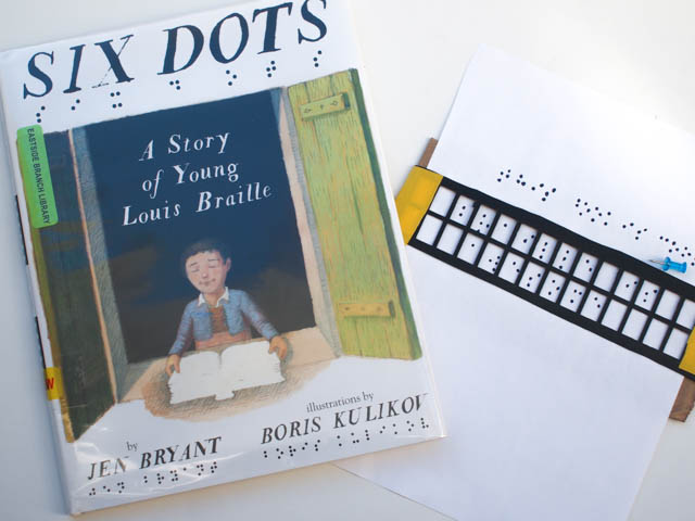 Make a simple braille slate and stylus- inspired by Six Dots:  A Story of Young Louis Braille)