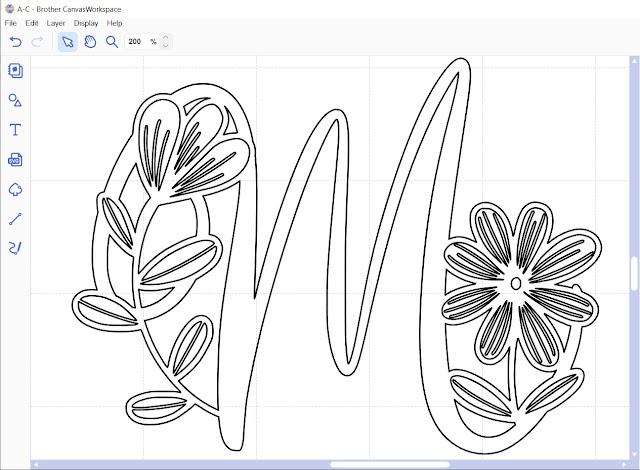 Monogram Daishy Font in Canvas Workspace using Type Converter