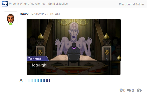 Phoenix Wright Ace Attorney Spirit of Justice Tahrust Inmee ghost