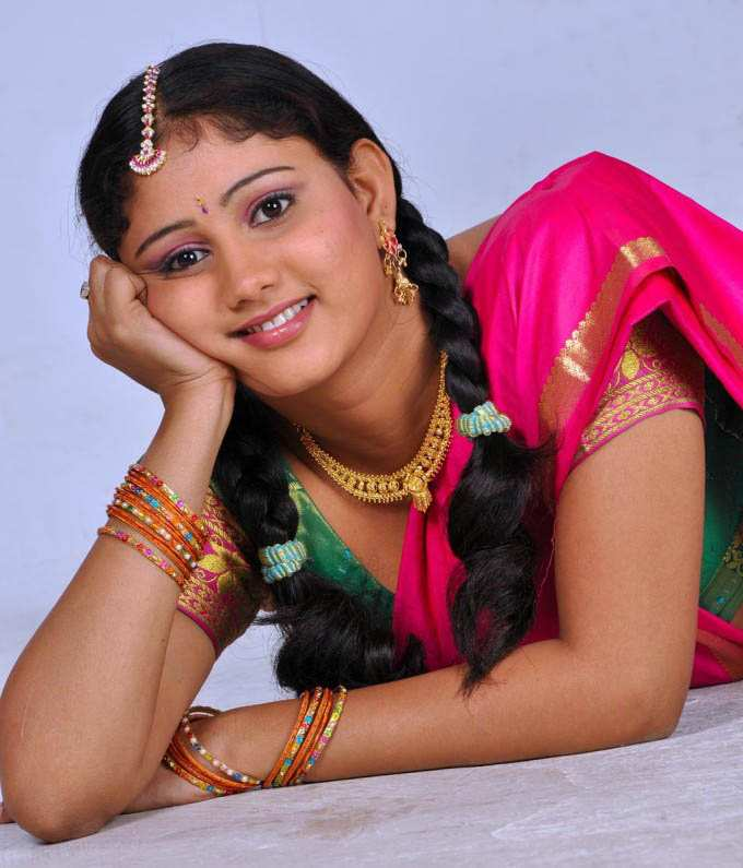 Actress AmruthaValli Half Saree Photos