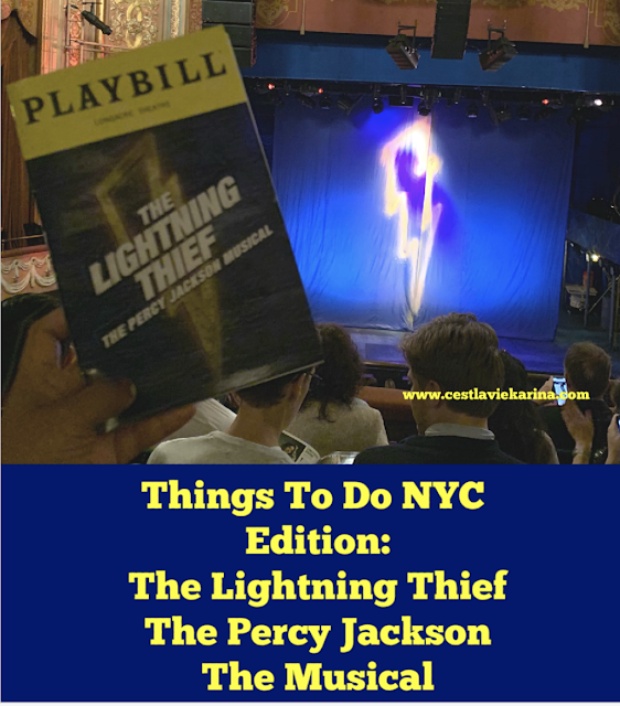 Things To Do NYC Edition - The Lightning Thief The Percy Jackson Musical