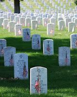 gravesites at Arlington