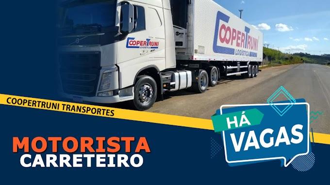 Transportadora Coopertruni abre vagas para Motorista Homens e Mulheres