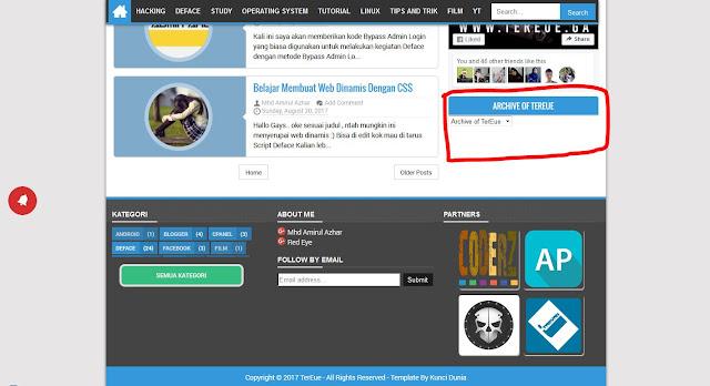 Cara Membuat Widget Archive Blog di Blogger