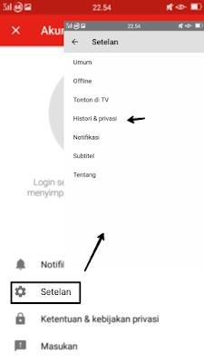 Cara menghapus histori pencarian youtube