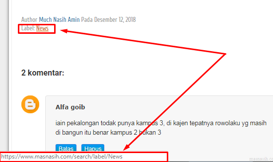 cara membuka alamat blog