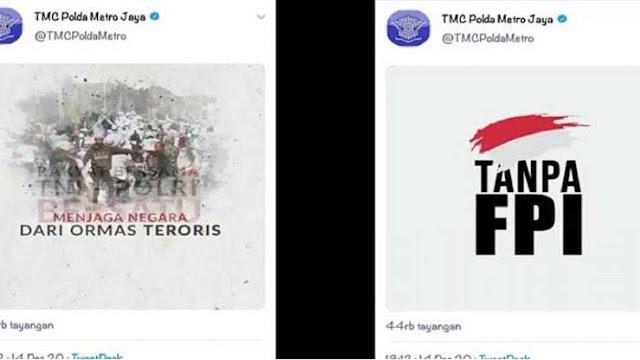 Akun TMC Polda Unggah Video 'Tanpa FPI', PA 212: Polisi Terkesan Mengadu Domba Masyarakat