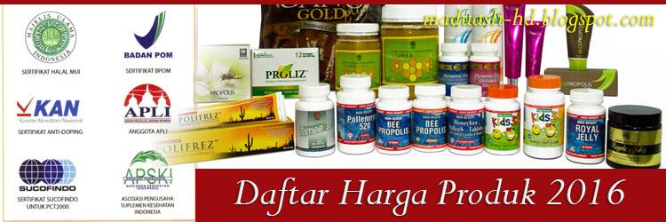 Daftar harga produk HDI
