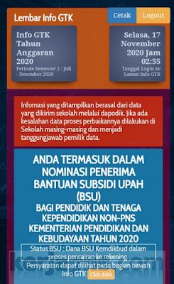 Info GTK cek BSU Kemdikbud
