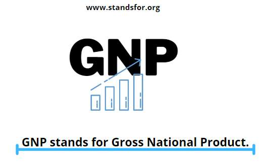 GNP-GNP stands for Gross National Product.