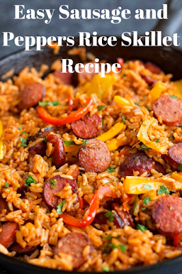Easy Sausage and Peppers Rice Skillet Recipe