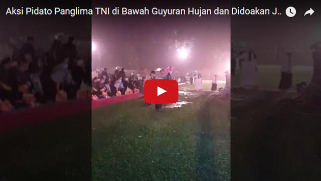 Bikin Merinding! Di Bawah Guyuran Hujan, Panglima TNI Didoakan Para Ulama Agar Jadi Presiden