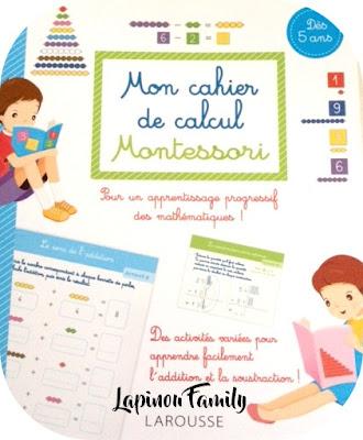 cahier calcul montessori