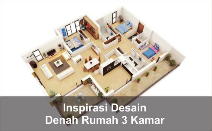 desain denah rumah 3 kamar