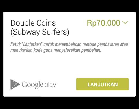 Double Coins (Subway Surfers) gratis