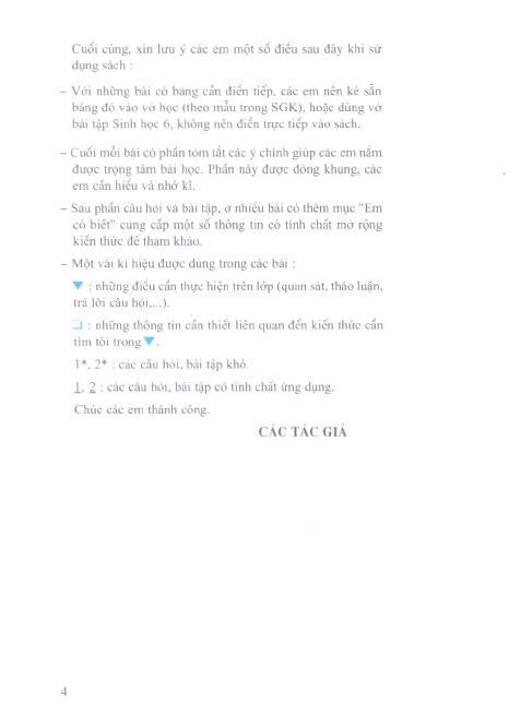 Trang 5 sach Sách Giáo Khoa Sinh Học Lớp 6