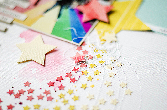 Scrapbooking-Layout-Stars
