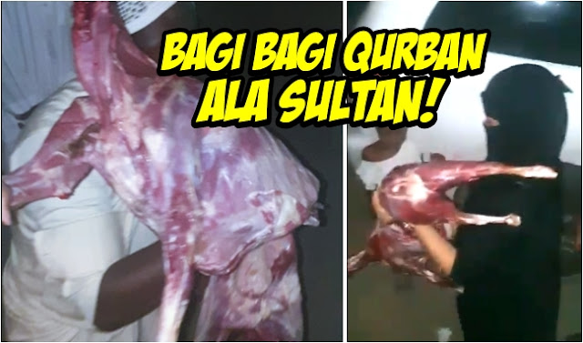 Bagi-bagi Kurban Ala Sultan Arab, 1 Kambing Utuh Buat 1 Orang