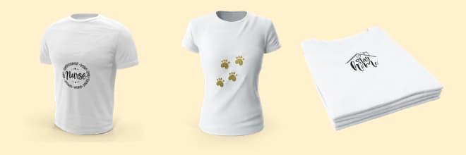 camisetas nurse , patinhas douradas e fique em casa