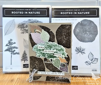 Rooted in Nature, Male Cards, Masculine Cards, Thank you cards, Thank You, Stampin' Up!, Rhapsodyincraft