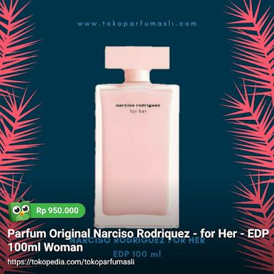 toko parfum asli parfum original narciso rodriguez for her edp 100ml woman