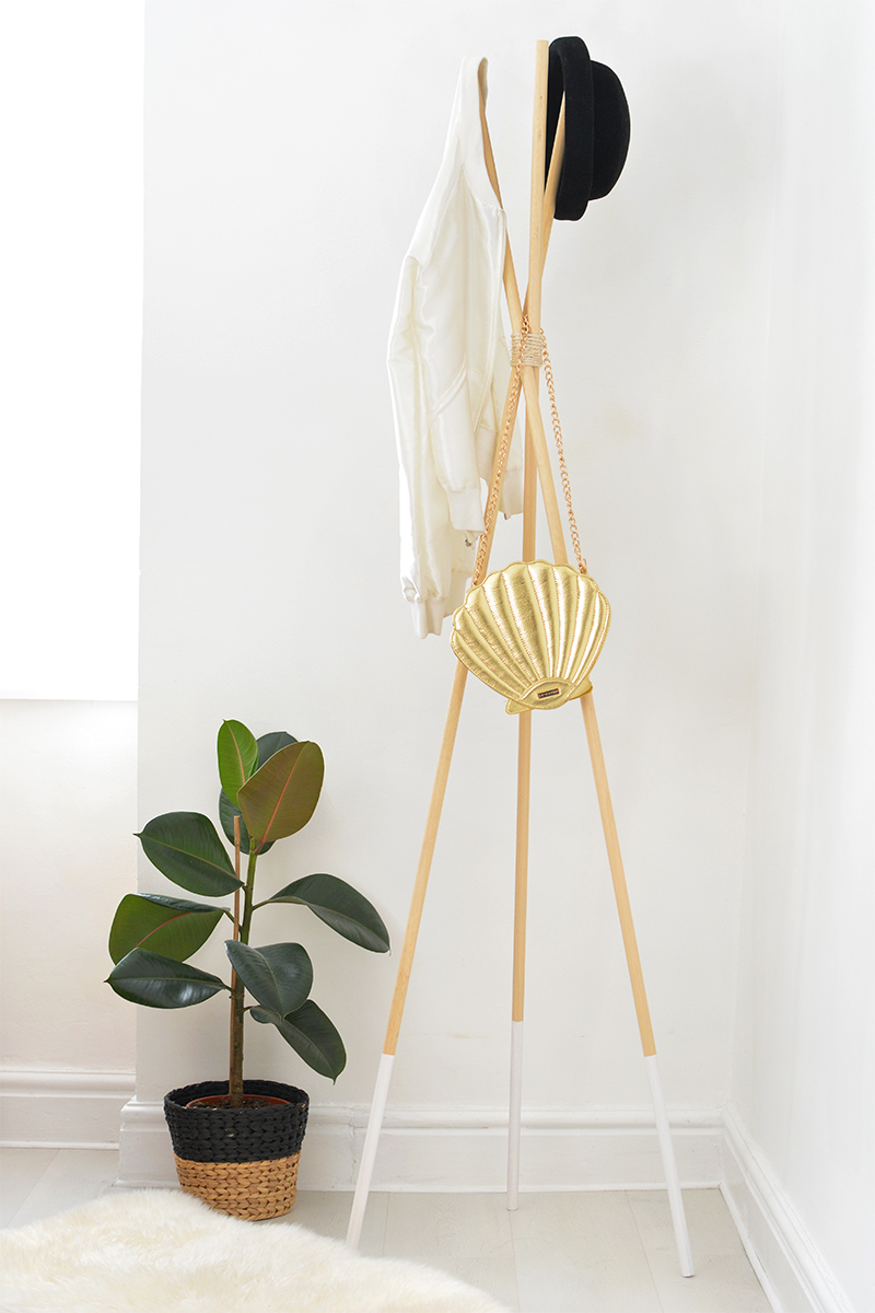 how to make a teepee hat coat stand