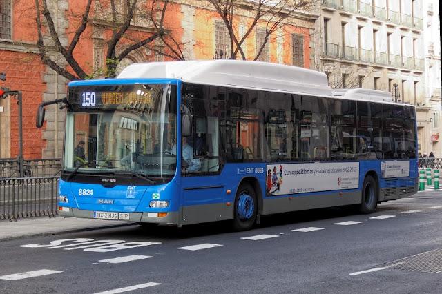 Ônibus em Madri