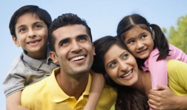 Familia cristiana feliz