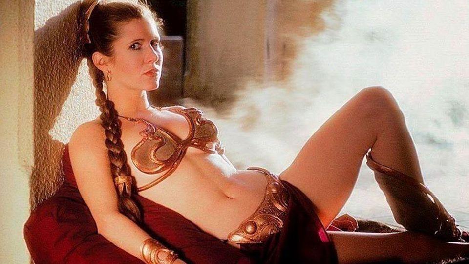 Star Wars, Звёздные войны, Принцесса Лея Органа, золотое бикини, Джабба Хатт