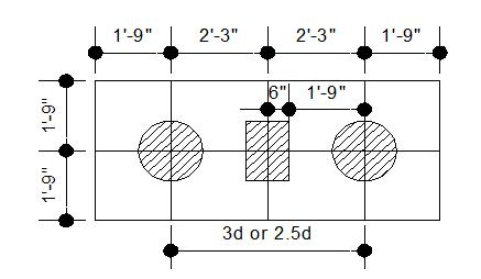 Plan of Pile Cap