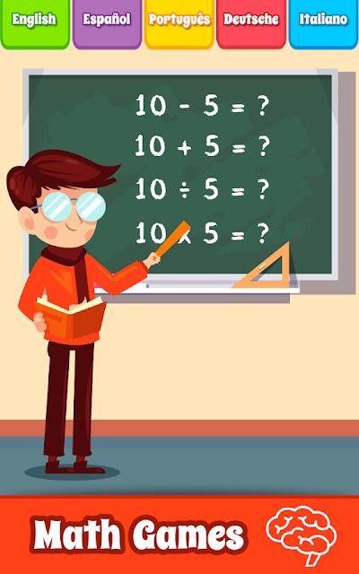 تحميل تطبيق تعلم ألعاب الرياضيات Math Games للاندرويد