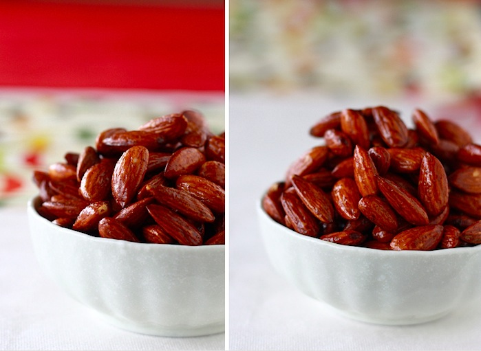 Honey Vanilla Spiced Almonds recipe by SeasonWithSpice.com