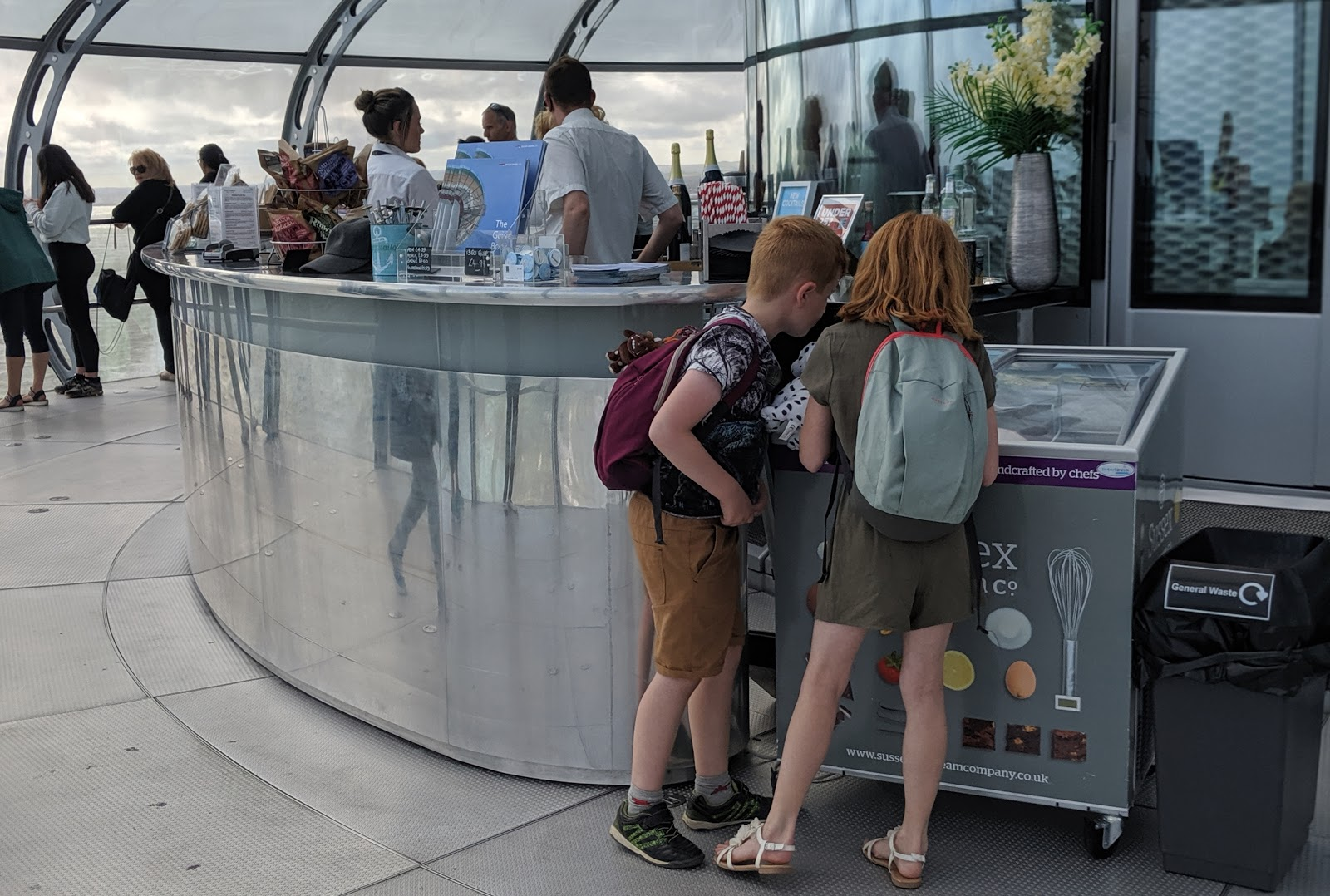 11 Top Tips for Visiting Brighton with Kids  - British Airways i360 sky bar