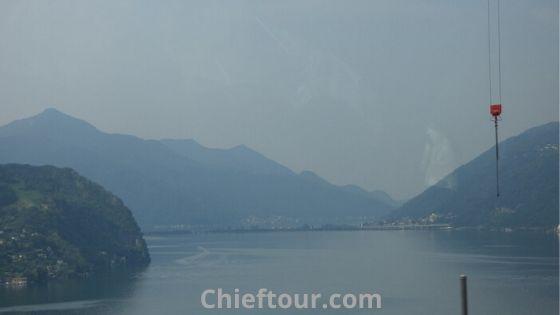 Lake Lugano, the beautiful place in Switzerland: