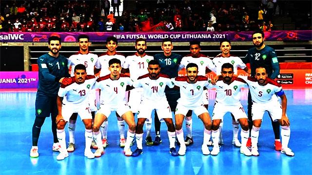 المنتخب المغربي لكرة القدم داخل الصالة ضد المنتخب البرازيلي مساء اليوم
