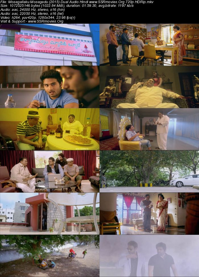 Mosagallaku Mosagadu (2015) Dual Audio Hindi 720p HDRip