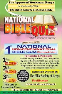 KENYA NATIONAL BIBLE QUIZ
