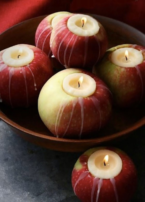 Votive candles inside apples for warmth and sweet smells @hearthandmadeuk I love this illustration. I used it last year in my autumn journal and you can download the illustration from this flickr account. Hello October! Come on over and discover 25 things to do this October!! Make Crockpot Cider. This image is a fabulous example of all that is lovely about Fall/Autumn. I love that I live in a world where there are seasons! The red apples and cinnamon sticks are perfect scents for the season.