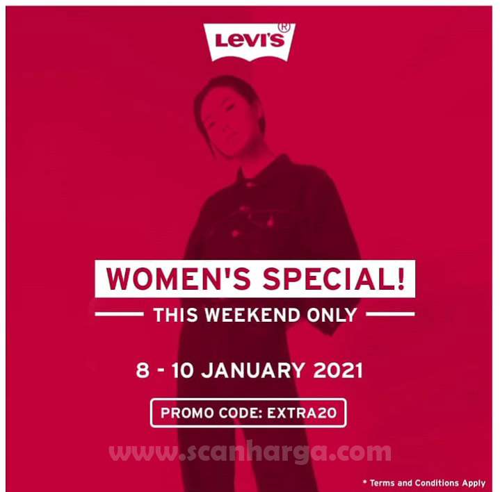 Levi's Promo SALE Up To 50% & Additional 20% Disc. For Women items!